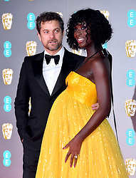 Joshua Jackson and Jodie Turner-Smith attending the 73rd British Academy Film Awards held at the Royal Albert Hall, London.