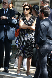 Ruth Elkrief attending the funeral ceremony of French designer Sonia Rykiel at the Montparnasse cemetery in Paris, France on September 1, 2016. The 86 years old pioneer of Parisian womenswear from the late 1960's onwards, has died from a Parkinson's disease-related illness. Photo by ABACAPRESS.COM