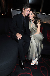 KELLY BROOK and DANNY CIPRIANI at a private party following the first night of 'Fat Pig' held at L'Atelier, 13-15 West Street, London WC2 on 20th October 2008.
