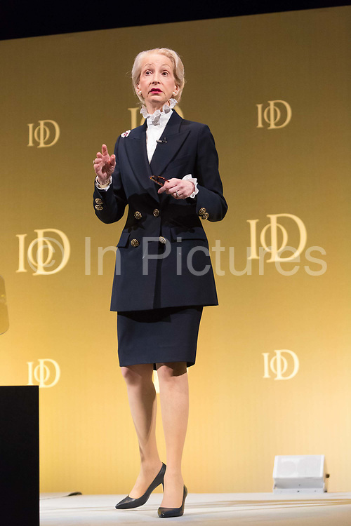 Lady Barbara Judge, chairman of the Institute of Directors speaking at the  Institute of Directors Annual Convention on October 10th, 2015.