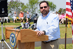 Rob Klee, Commisioner CT DEEP, at the Ribbon Cutting Ceremony for the New Meigs Point Nature Center at Hammonasset Beach State Park. A Connecticut State Project No: BI-T-601   Northeast Collaborative Architects  Contractor: Secondino & Son