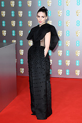 Rooney Mara attending the 73rd British Academy Film Awards held at the Royal Albert Hall, London. Photo credit should read: Doug Peters/EMPICS Entertainment
