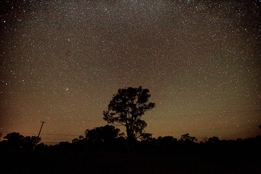 Night sky in the outback. Australia.<br /> Photo by Lorenz Berna