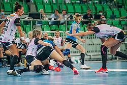 Players seen during handball match between RK Krim Mercator (SLO) and Vipers Kristiansand (NOR), on September 12, 2020 in Arena Stožice, Ljubljana, Slovenia. Photo by Sinisa Kanizaj / Sportida