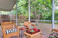 View of nice backyard and patio