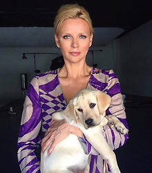 """Veronica Ferres releases a photo on Instagram with the following caption: """"Der Tag wurde ordentlich vers\u00fc\u00dft \ud83d\ude0d #Goldie #inlove #canikeepyou #happy #goals #work"""". Photo Credit: Instagram *** No USA Distribution *** For Editorial Use Only *** Not to be Published in Books or Photo Books ***  Please note: Fees charged by the agency are for the agency's services only, and do not, nor are they intended to, convey to the user any ownership of Copyright or License in the material. The agency does not claim any ownership including but not limited to Copyright or License in the attached material. By publishing this material you expressly agree to indemnify and to hold the agency and its directors, shareholders and employees harmless from any loss, claims, damages, demands, expenses (including legal fees), or any causes of action or allegation against the agency arising out of or connected in any way with publication of the material."""