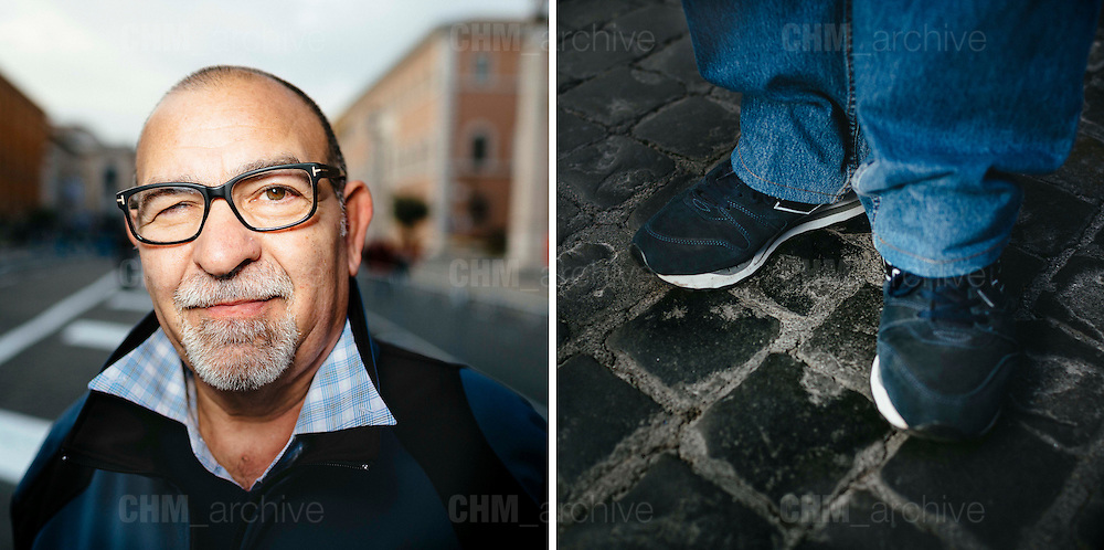 Paolo. 59 years old. Lazzate, Italy.<br /> Rome 08 December 2015. Christian Mantuano / OneShot