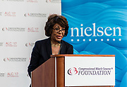 "WASHINGTON, DC -- 9/21/17 -- Congresswoman Maxine Waters hosts the unveiling of Nielsen's seventh annual Diverse Intelligence Series report on African-Americans at the Congressional Black Caucus Foundation annual conference. The 2017 report, ""African-American Women: Our Science, Her Magic"", details data and consumer insights on African-American women's consumer preferences and brand affinities that are driving total Black spending power toward a record $1.5 trillion by 2021..…by André Chung #_AC16708"