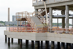 Boathouse at Canal Dock Phase II   State Project #92-570/92-674 Construction Progress Photo Documentation No. 11 on 23 May 2017. Image No. 14 North Elevation & Stairs