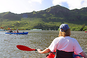 Kayaking Huleia River, Kauai, Hawaii, (editorial use only)<br />