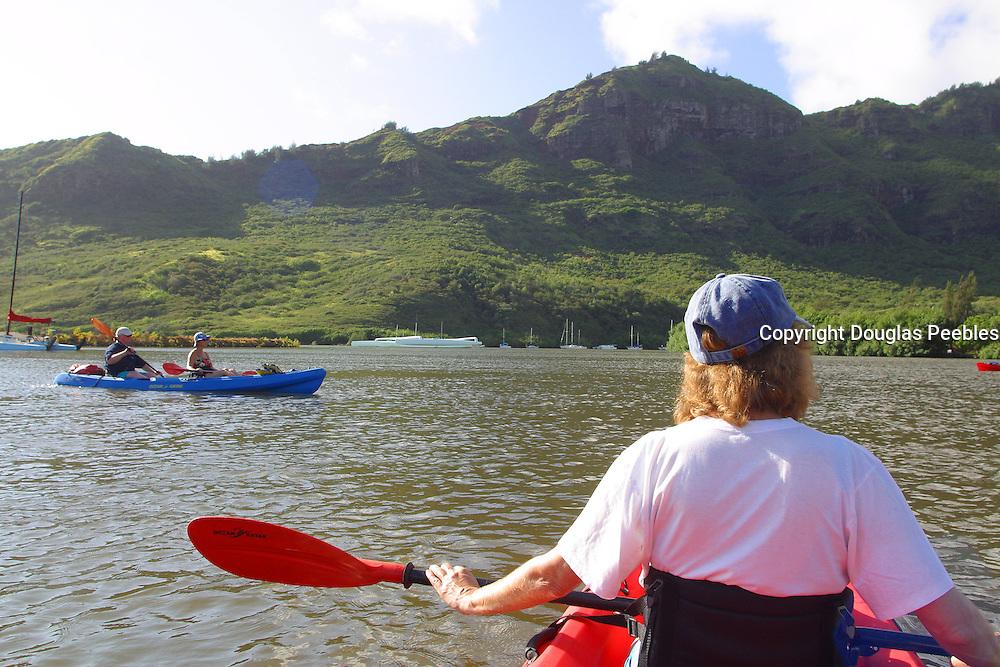Kayaking Huleia River, Kauai, Hawaii, (editorial use only)<br />