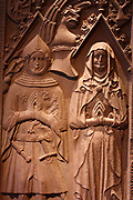 (the boy) Beyer of Boppard 1376 and his wife Lisa of Pyrmont 1399 Red Sandstone Late 14th century Benedictine Klostermarienberg Boppard, Rhineland Palatinate (Germany)