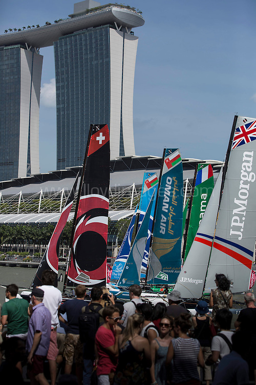 The Extreme Sailing Series 2014. Act 1. Singapore. Day 3. <br /> Credit - Lloyd Images