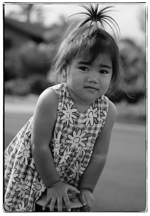 Cute Polynesian girl
