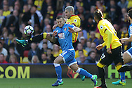 Valon Behrami of Watford challenges Jack Wilshere of Bournemouth . Premier league match, Watford v AFC Bournemouth at Vicarage Road in Watford, London on Saturday 1st October 2016.<br /> pic by John Patrick Fletcher, Andrew Orchard sports photography.