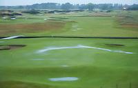 CARNOUSTIE Schotland - regen, rain , hole 18. Carnoustie Golf Links. COPYRIGHT KOEN SUYK