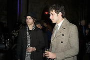 ALEX GREENWALD AND MARK RONSON , European Film premiere of Sweeny Todd,  Odeon Leicester Sq. and party afterwards at the Royal Courts of Justice. 10 January 2008. -DO NOT ARCHIVE-© Copyright Photograph by Dafydd Jones. 248 Clapham Rd. London SW9 0PZ. Tel 0207 820 0771. www.dafjones.com.