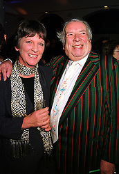 MR & MRS GEORGE MELLY, he is the entertainer, at a party in London on 29th November 1999.MZN 44