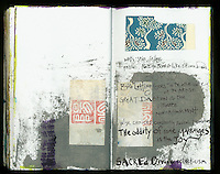 Great devotion is the ultimate non-attachment. Art Journal by Elena Ray. Handmade artist's journals filled with collage and crazy wisdom.