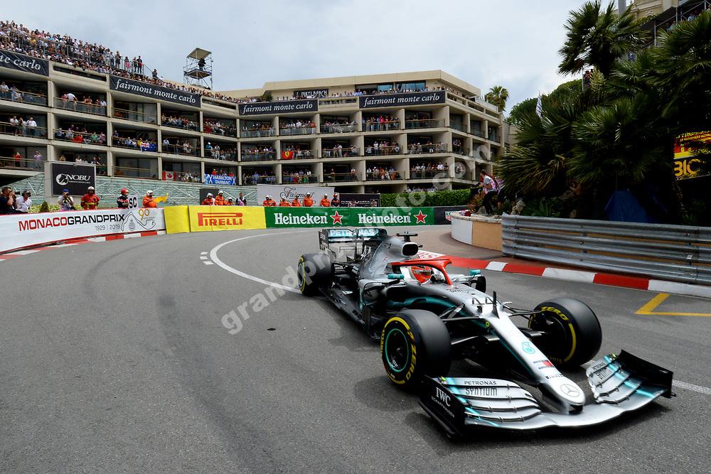 Lewis Hamilton (Mercedes) during the 2019 Monaco Grand Prix. Photo: Grand Prix Photo