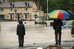 @ London News Pictures.  June 9 2012. Talybont, UK. The village of Talybont Ceredigion Wales UK , where the River Leri, swollen after two days of heavy rain, rose by over 8 foot and burst through riverside homes. Photo credit: Keith Morris/LNP
