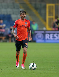 August 16, 2017 - Medipol Basaksehir's Junior Caicara during Medipol Basaksehir - Sevilla UEFA Champions League Play - Off 1st round game at Istanbul Fatih Terim Stadium, 16th August, 2017. (Credit Image: © Tolga Adanali/Depo Photos via ZUMA Wire)