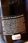 informative back label domaine du vissoux beaujolais burgundy france