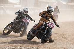 Hooligan flat tracker (no. 88) Jimmy Hill on his <br /> Indian Motorcycle race bike in the Hooligan races on the temporary track in front of the Sturgis Buffalo Chip main stage during the Sturgis Black Hills Motorcycle Rally. SD, USA. Wednesday, August 7, 2019. Photography ©2019 Michael Lichter.