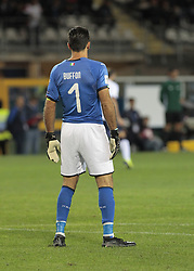October 6, 2017 - Turin, Italy - Gianluigi Buffon of Italy during the match to qualify for the Football World Cup 2018  between Italia v Macedonia, in Turin, on October 24, 2017. (Credit Image: © Loris Roselli/NurPhoto via ZUMA Press)