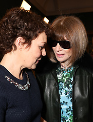 (left to right) Helen McCrory and Dame Anna Wintour on the front row during the Erdem Autumn/Winter 2019 London Fashion Week show at The National Portrait Gallery, London.