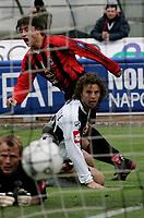 Siena 17/4/2005 Campionato Italiano Serie A <br /> Siena Milan 2-1<br /> Hernan Crespo scores his goal of 0-1<br /> Hernan Crespo segna il gol del vantaggio per il Milan<br /> Photo Fabrizio Corradetti Graffiti