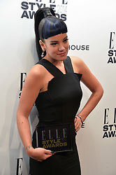 LILY ALLEN winner of the Elle UK Recording Artist Female Award at the 17th Elle Style Awards 2014 in association with Warehouse held at One Embankment, 8 Victoria Embankment, London on 18th February 2014.