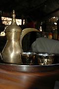Israel, Galilee, Mount Tabour Beduin serving coffee