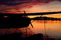 Seaplane Sunset Lake Spenard Anchorage Alaska