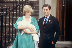21st JUNE : On this day in 1982 Prince William was born. The Prince and Princess of Wales leaving the Lindo Wing,  at St. Mary's Hospital after the birth of their baby son, Prince William.