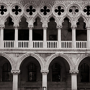 Facade of Doge's palace in Venice.