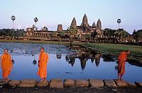 Cambodge, Siem Reap, Angkor, Temple de Angkor Vat, patrimoine mondial UNESCO// Cambodia, Ankgor, Angkor Vat Temple, UNESCO world heritage