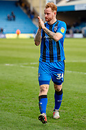 Gillingham FC defender Connor Ogilvie (34) during the EFL Sky Bet League 1 match between Gillingham and Oxford United at the MEMS Priestfield Stadium, Gillingham, England on 9 March 2019.
