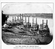 River Boats at Pittsburg Landing, on Tennessee Riverafter the battle of Shilo  from the book ' The Civil war through the camera ' hundreds of vivid photographs actually taken in Civil war times, sixteen reproductions in color of famous war paintings. The new text history by Henry W. Elson. A. complete illustrated history of the Civil war