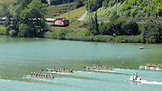 Lucerne, SWITZERLAND, Start W8+ at the 2007 FISA World Cup, Lucerne, on the Rotsee Lake, 13/07/2007  [Mandatory Credit Peter Spurrier/ Intersport Images] , Rowing Course, Lake Rottsee, Lucerne, SWITZERLAND.