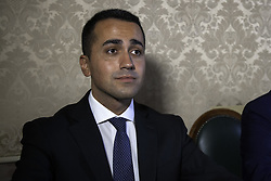 October 2, 2017 - Palermo, Italy - Luigi Di Maio during the press conference in support of Giancarlo Cancelleri to the Presidency of the Sicilian Region. (Credit Image: © Antonio Melita/Pacific Press via ZUMA Wire)