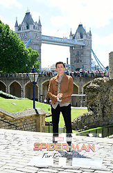Tom Holland attending the Spider-Man: Far From Home Photocall held at the Tower of London.