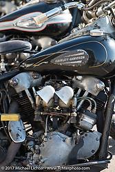 "Line of Harley-Davidson Knuckleheads in front of Koji ""Hammer"" Hamada'sHammer Sycle /Hardly-Driveable shop inTsuchiura City, Ibaraki Prefecture, Japan. Thursday December 7, 2017. Photography ©2017 Michael Lichter."