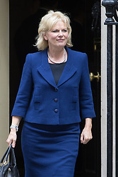 Downing Street,  London, June 27th 2015. Small Business Minister Anna Soubry leaves the first post-Brexit cabinet meeting at 10 Downing Street.