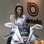 Motosalone Eicma edizione 2012: lo stand Bimota..International Motorcycle Exhibition 2012: Bimota stand.