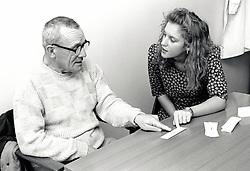 Speech therapist, Queen's Medical Centre, Nottingham, UK 1990