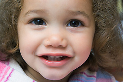 Little girl smiling,