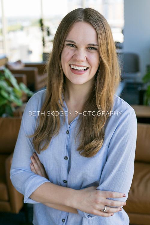 Calley has her portrait taken in Madison, Wisconsin on September 12, 2018. <br /> <br /> Beth Skogen Photography<br /> www.bethskogen.com Madison, Wisconsin portrait and headshot photographer