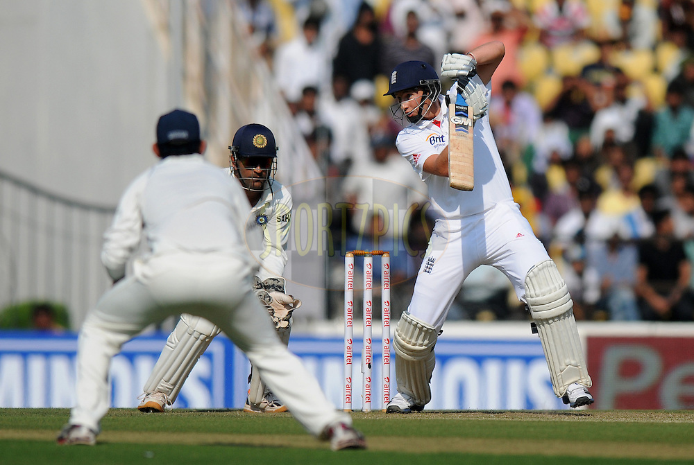 Joe Root of England bats during day one of the 4th Airtel Test Match between India and England held at VCA ground in Nagpur on the 13th December 2012..Photo by  Pal Pillai/BCCI/SPORTZPICS ..