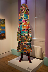 © Licensed to London News Pictures. 11/06/2019. London, UK. American artist Nick Cave's 'Soundsuit, 2018' is featured in the 'Get Up, Stand Up Now: Generations of Black Creative Pioneers' exhibition at Somerset House, London. This major new exhibition celebrates the past 50 years of Black creativity in Britain and beyond. Beginning with the radical Black filmmaker Horace Ové and his dynamic circle of Windrush generation creative peers and extending to today's brilliant young Black talent globally, a group of around 100 interdisciplinary artists are showcasing their work together for the first time, exploring Black experience and influence, from the post-war era to the present day. The exhibition opens on June 12, 2019 and runs until September 15, 2019.  Photo credit: Peter Macdiarmid/LNP